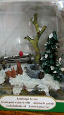 2001 Lemax Landscape Accent Trees Rabbit Well Snow Fence Village Collection