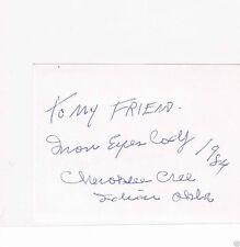 Unbranded C Surname Initial Film Autographs