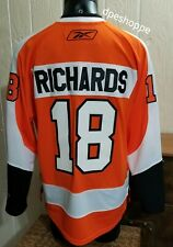 NHL Philadelphia Flyers Hockey Mike Richards #18 Orange/White Reebok Jersey LG.