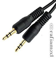 3.5mm Jack to Jack Stereo Audio Plug Male to Male Aux Auxiliary Headphone Cable