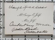 Antique Calling Card Mme George E. Jelf