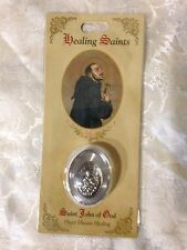 SAINT JOHN OF GOD HEALING STONE for HEART DISEASE *NEW in PACKAGE* by Milagros