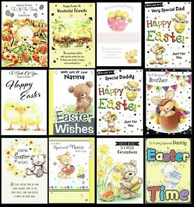 CUTE EASTER CARD ~ FAMILY AND FRIENDS ~ SOMETHING FOR EVERYONE ONLY 99p each