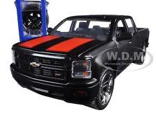 2014 CHEVROLET SILVERADO PICKUP TRUCK W/ EXTRA WHEELS MATT BLACK 1/24 JADA 97690