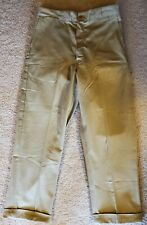 Nos Vtg 50s 60s Stevens Twist Twill Sanforized Khaki Pants New Boat Sail