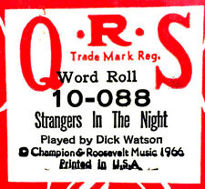 QRS Word Roll STRANGERS IN THE NIGHT 10-088 Dick Watson Player Piano Roll