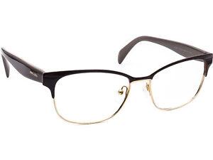 Prada Women's Eyeglasses VPR 65R DHO-101 Brown/Gold Frame Italy 53[]16 140