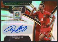 2020 Select UEFA Euro Historical Significance Autographs Ryan Giggs Auto Wales
