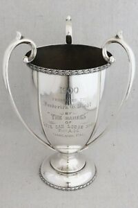 1900 Sterling Silver Masonic Loving Cup Trophy Award Live Oak Lodge Oakland Ca