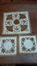 Silk Antique Embroidery Table Linens