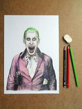 JOKER dessin original, mine graphite et crayons, DC Comics, Suicide Squad