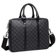 Mens Business Fashion Black Briefcase Crossbody Laptop Handbag Shoulder Bag