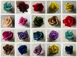Colourfast Foam Fake Roses Various Colours / Sizes Decor Wedding Home Floral