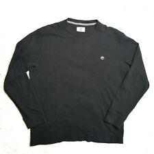 Timberland Men's Black Pullover Waffle Knit Thermal Base Layer Shirt Size Medium