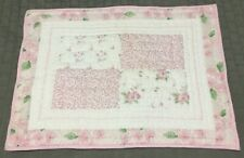 Pottery Barn Kids Quilted Sham Standard Pillow Pink White Green