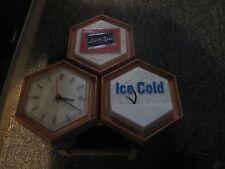 Vintage Black label Ice Cold Beer Clock 1967