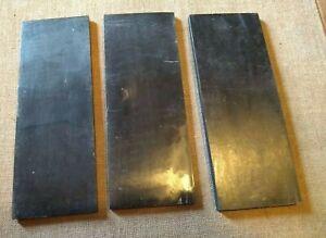 Dark Buffalo Horn Blank Scale - Knife / Razor  Restoration etc 160 x 60 x 4 mm