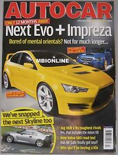 Autocar 18/10/2006 featuring Honda, Jaguar XKR, Aston Martin, Merceds, Porsche