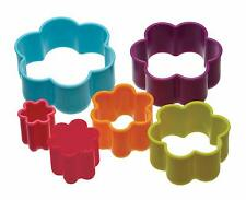 Colourworks por Kitchen Craft set de 6 flor galleta pastel cortadores & tarrina