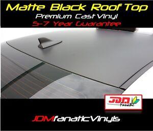 48x65 Matte Black Roof Top Overlay Flat Tint Vinyl Film WRAP Roll Hood JDM Sheet