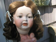 SIZE 15  LIGHT BROWN SUZANNE ANTIQUE MODERN DOLL WIG SYNTHETIC MOHAIR