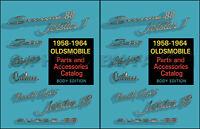 Olds Body Parts Book Catalog 1958 1959 1960 1961 1962 1963 1964 Oldsmobile