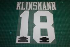 Tottenham Hotspur 92/96 #18 KLINSAMNN Awaykit Nameset Printing