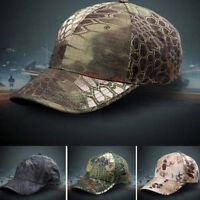 Men Camo Camouflage Hat Adjustable Camo Hunting Fishing Military Baseball Cap FT