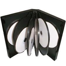 10 x 10 Vie CD DVD Blu Ray Custodia Nera 33mm spina dorsale di alta qualità per 10 Dischi