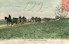 Carte LAON Défilé d'Artillerie Soldats Chevaux