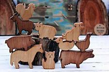 Wooden Set of animal farm, Wooden animal, Wooden toys, Waldorf toys, Waldorf