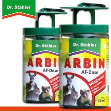 Dr.Stähler 2 X Arbin Af Boîte + Chaque 50 ML Solution Wildabweiser