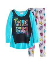 New DC SUPER HERO GIRLS Size 8 Pajama 2 Piece Set Long Sleeve Shirt and Pants