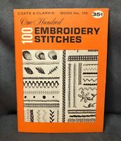 Vintage 1964 100 Embroidery Stitches by Coats & Clark's Book 150- Needle Craft