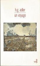 Hans Günther Adler, Un voyage