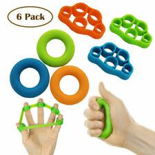 6pcs Hand Resistance Bands Finger Stretcher Extensor Exerciser Grip Strengthener