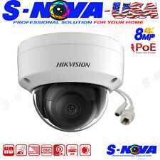 Hikvision 4K 8MP POE IP Dome Camera 103° View Angle Outdoor 3 Axis Original