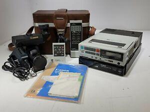 Canon VC-200 Color Video Camera & VT-50 Portable Video Recorder Vr-30 + accs