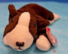 Ty Beanie Baby Bruno The Bull Terrier Retired. Rare #4183 Tag Errors