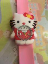 Reloj Pulsera Hello Kitty de Cuarzo Correa fácil de Niños Niñas Regalo Luz Rosa Slap ESY1