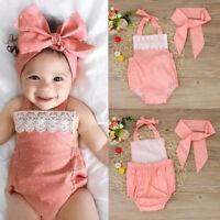 Toddler Newborn Baby Girls Romper Jumpsuit Bodysuit Infant Clothes Outfits Set