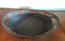Antique 19th century Tole Bread Tray Basket Paint Decorated American Federal