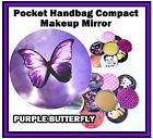 VIOLA FARFALLA - Divertente BORSETTA/TASCABILE Make-Up Specchietto compatto -