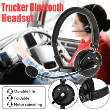 Pro Trucker Driver Over The Head Boom bluetooth Headset Wireless Noise