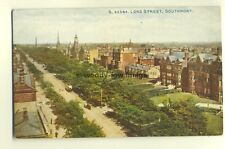 tp4833 - Lancs - Aerial View of Lord Street in Southport  - Postcard