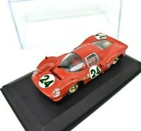 Model Car Brumm Scale 1/43 Ferrari 330 P4 Coupe Daytona diecast Racing Red
