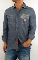 Replay Men Jeans Hemd M4730 Blue Gr.L Art.Nr.51142010 - Worker Style Cotton Shir
