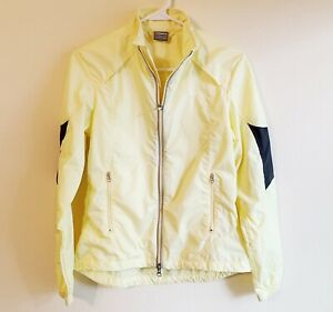 Nike Women's Small Yellow Windbreaker Wind Runner Reflective Athletic Jacket