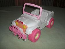 Barbie Jeep Geländewagen Cabrio rosa weiß - Barbieauto Auto pink