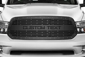 Customized Grille Kit for Dodge RAM 2013-2018 Aftermarket Truck Black Steel